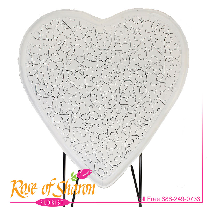 2638 Shabby Floral Heart Container Image
